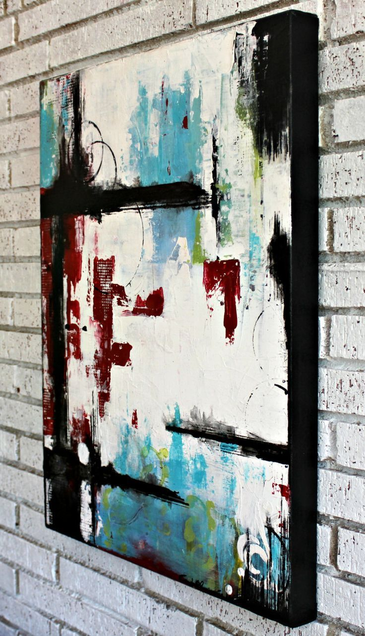 Abstract Art on Canvas by Crystal Renee