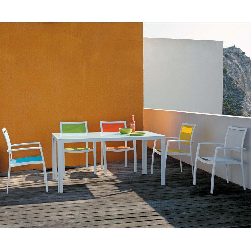Fauteuil de jardin en aluminium blanc | Salon de jardin et terrasse ...