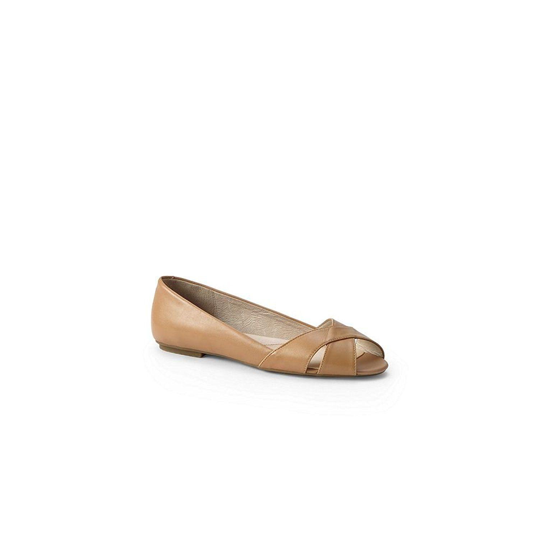 Womens Regular Pointed Toe Ballet Pumps - 7.5 - BLUE Lands End UUQ5b