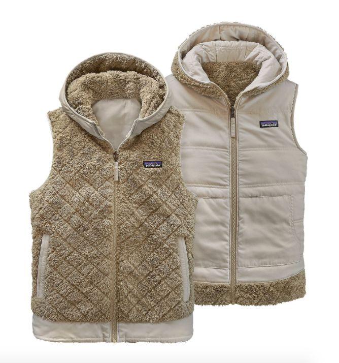 Patagonia Women's Los Gatos Hooded Fleece Vest - El Cap Khaki ... : patagonia quilted jacket - Adamdwight.com