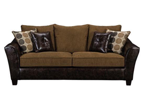 griffin chestnut sofa value city furniture for the living room rh pinterest com