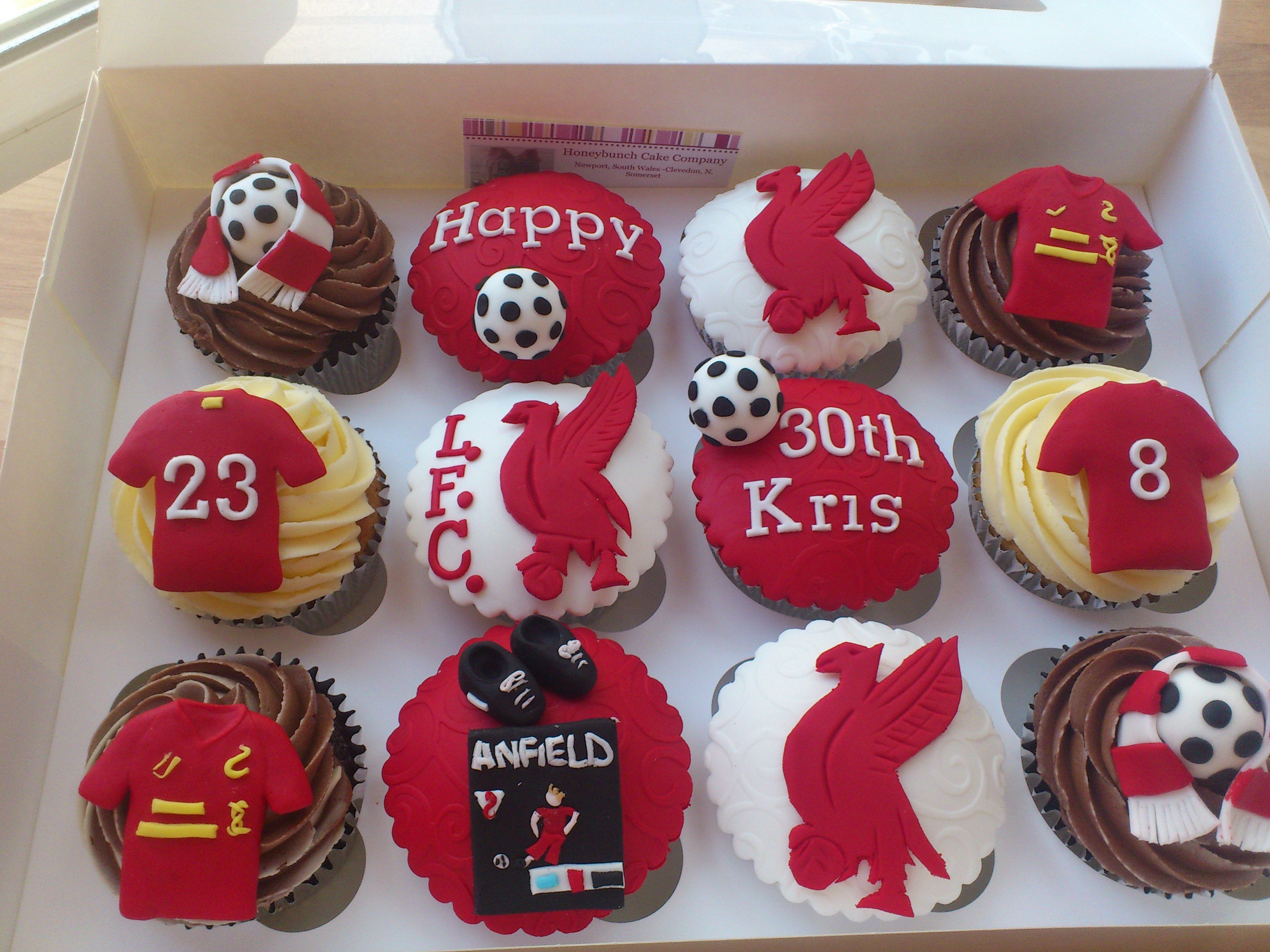 Liverpool FC Cupcakes | Flickr - Photo Sharing!