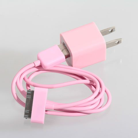 Pink Cables & Adapters for Apple Phones