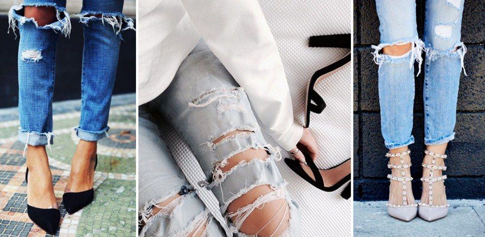 Diy tutorial f r trendsetter so kannst du eine angesagte destroyed jeans ganz einfach selber - Zerrissene jeans selber machen ...