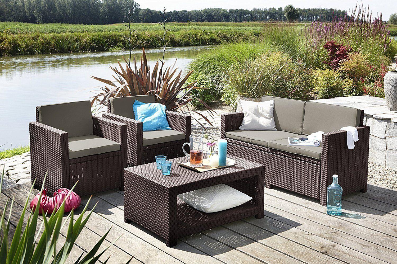Koll Living Lounge Set Korsika in braun, inkl. Sitzauflagen ...