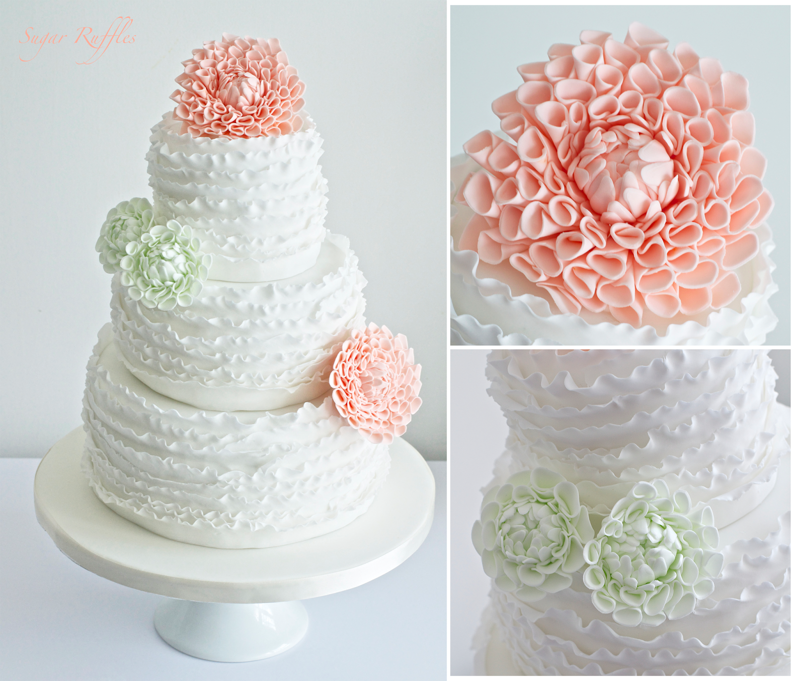 Wedding Flowers Cumbria: Sugar Ruffles, Elegant Wedding Cakes. Barrow In Furness