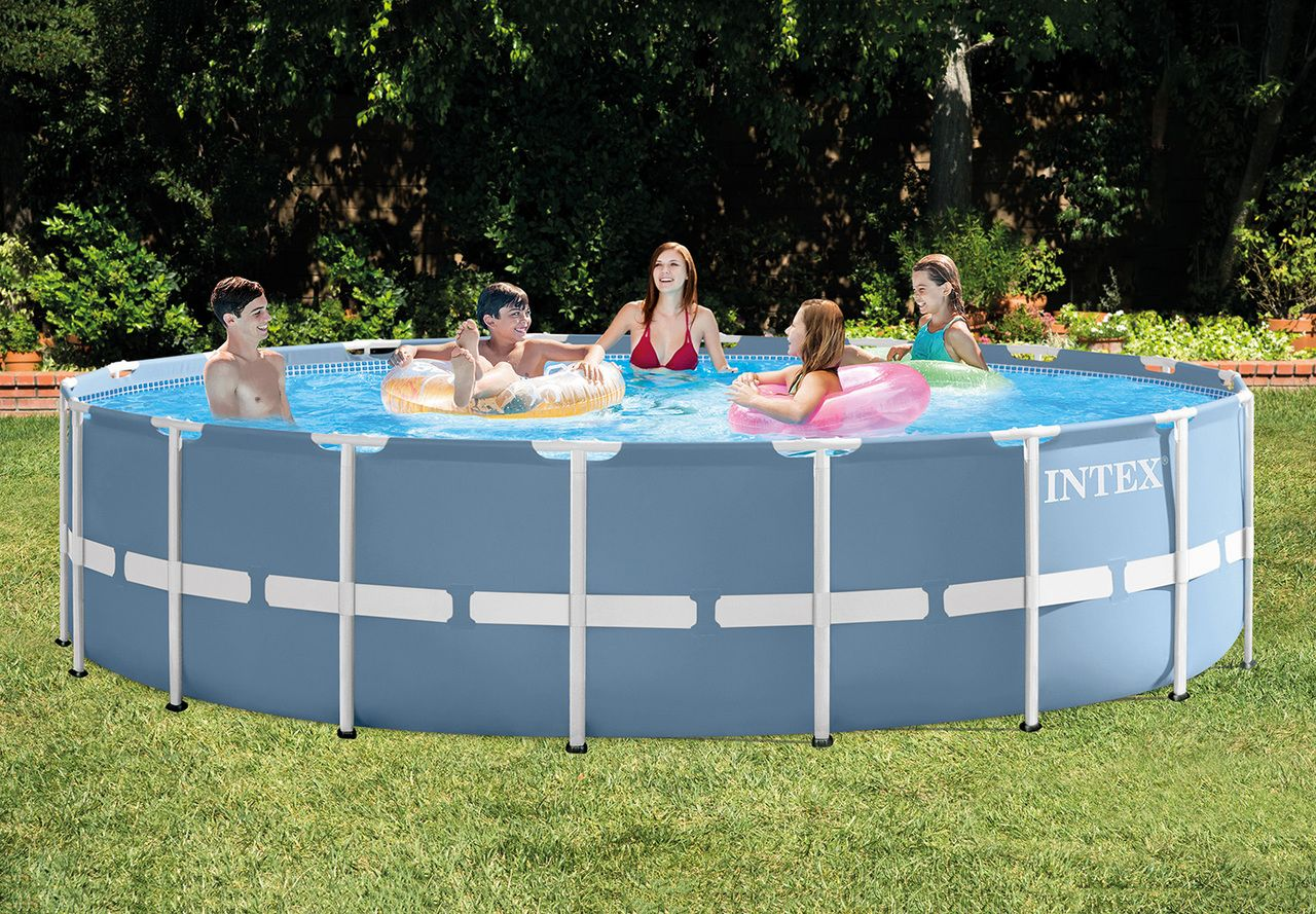 18ft X 48in Prism Frame Pool Set 26751w The Leader In Above Ground Pools Airbeds And Above Ground Swimming Pools Intex Intex Above Ground Pools