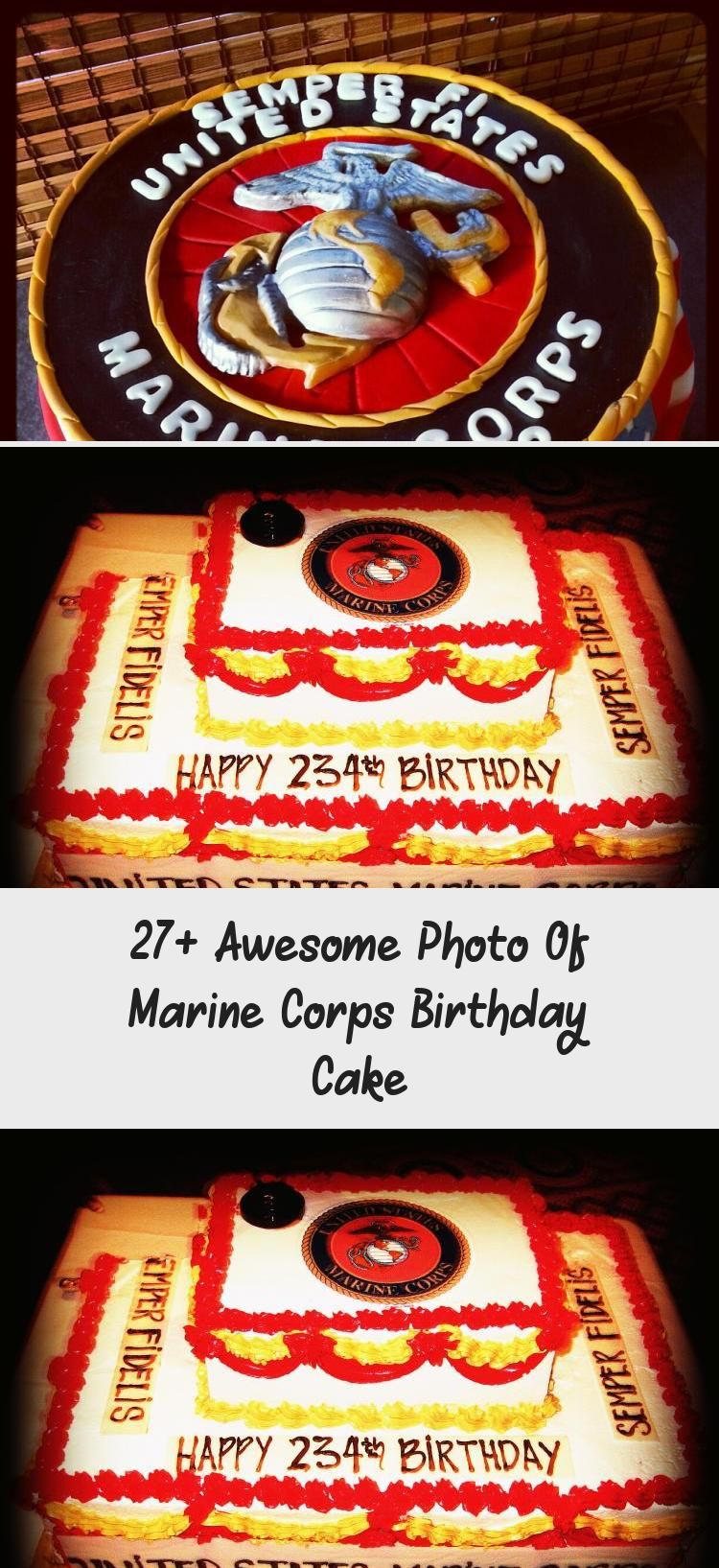 27+ Awesome Photo Of Marine Corps Birthday Cake Cake in