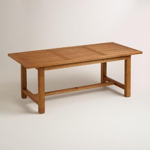 world market wood praiano outdoor dining table 399 99 outdoors rh pinterest com