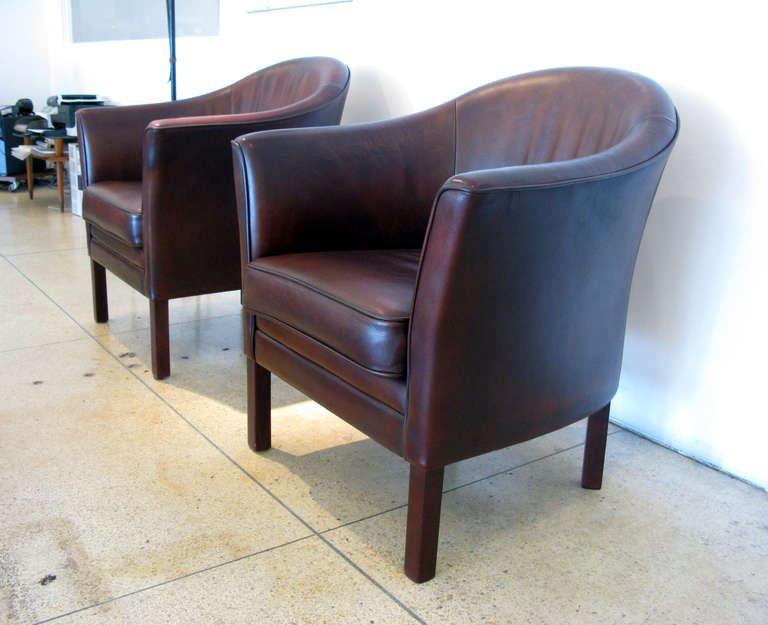 pair of mogens hansen club chairs 1stdibs furniture chair club rh pinterest ca
