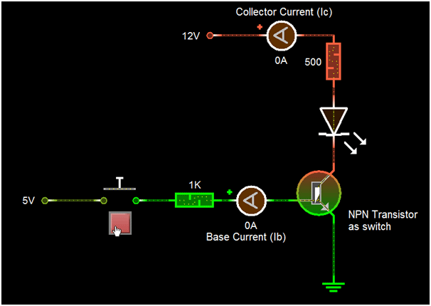 BC548 Transistor As Switch | Circuits in 2019 | Diy
