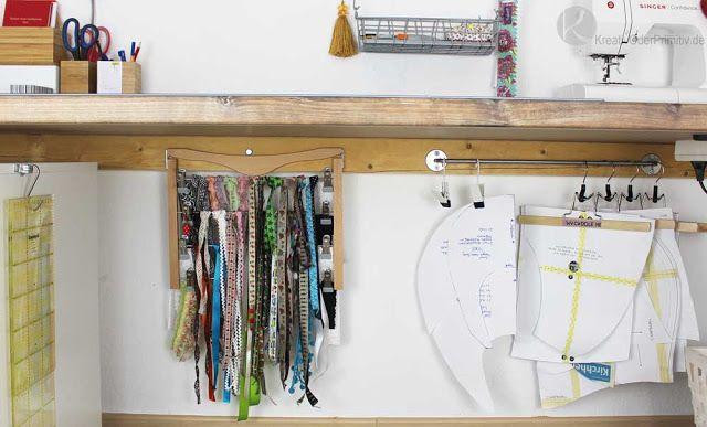 Sewing Secrets: Nähzimmer DIY Arbeitsbereich Aufbewahrung Ikea Möbel ...