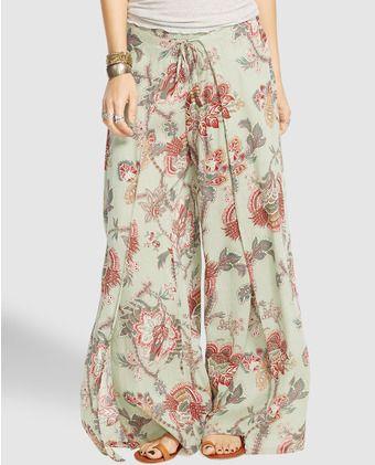 Pantalón ancho de mujer Denim   Supply Ralph Lauren estampado ... bcae321ea85