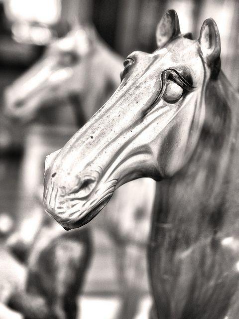 Ancient ceramic horses at the British Museum.