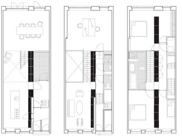 Plano de hermoso departamento moderno de 3 dormitorios-3 | loft para ...