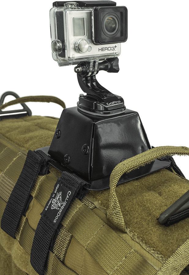 CaliberDog MOLLE GoPro Dog Camera Back Mount Tactical