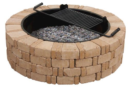Ashwell Fire Pit At Menards This Style Costs 428 To Build Fire Pit Kit Fire Pit Small Garden Fire Pit