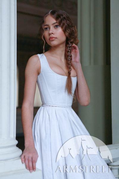 Renaissance linen corset with skirt