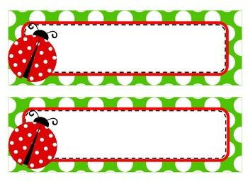 ladybug theme name tags and labels board1 ladybug preschool rh pinterest com
