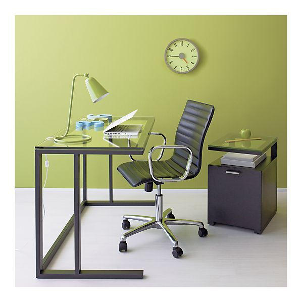 clean and modern desk and only 199 from crate barrel for the rh pinterest com