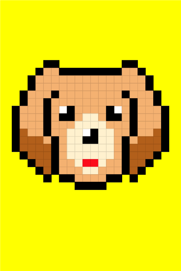 Easy Pixel Art Dogs Golden Retriever Pixel Art Facile