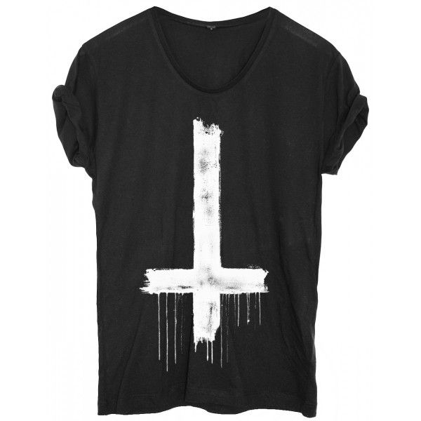 "Inverted cross tshirt #style ""Say can you see the cross, inverted solemnly….."""