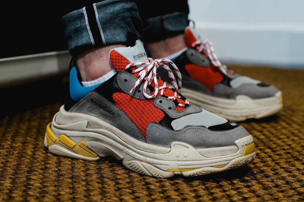 Triple S Trainers BLUE GRIS RED BLACK for Men | Balenciaga