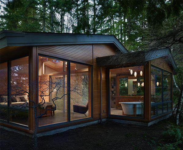casa de madera moderna finlandesa nordica casas de madera ecologicas acristalado exterior