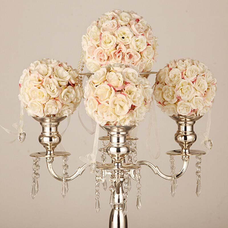 wedding centerpieces fake flowers%0A  pcs Wedding decorative artificial flowers Bouquet White Pink Blue Plastic  Mariage Birthday Party Supplies decor