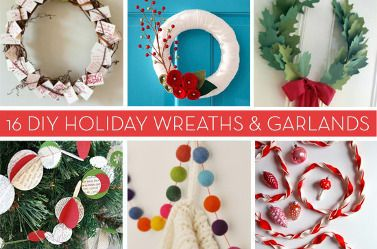 Roundup: 16 Wreaths and Garlands To DIY This Holiday Season