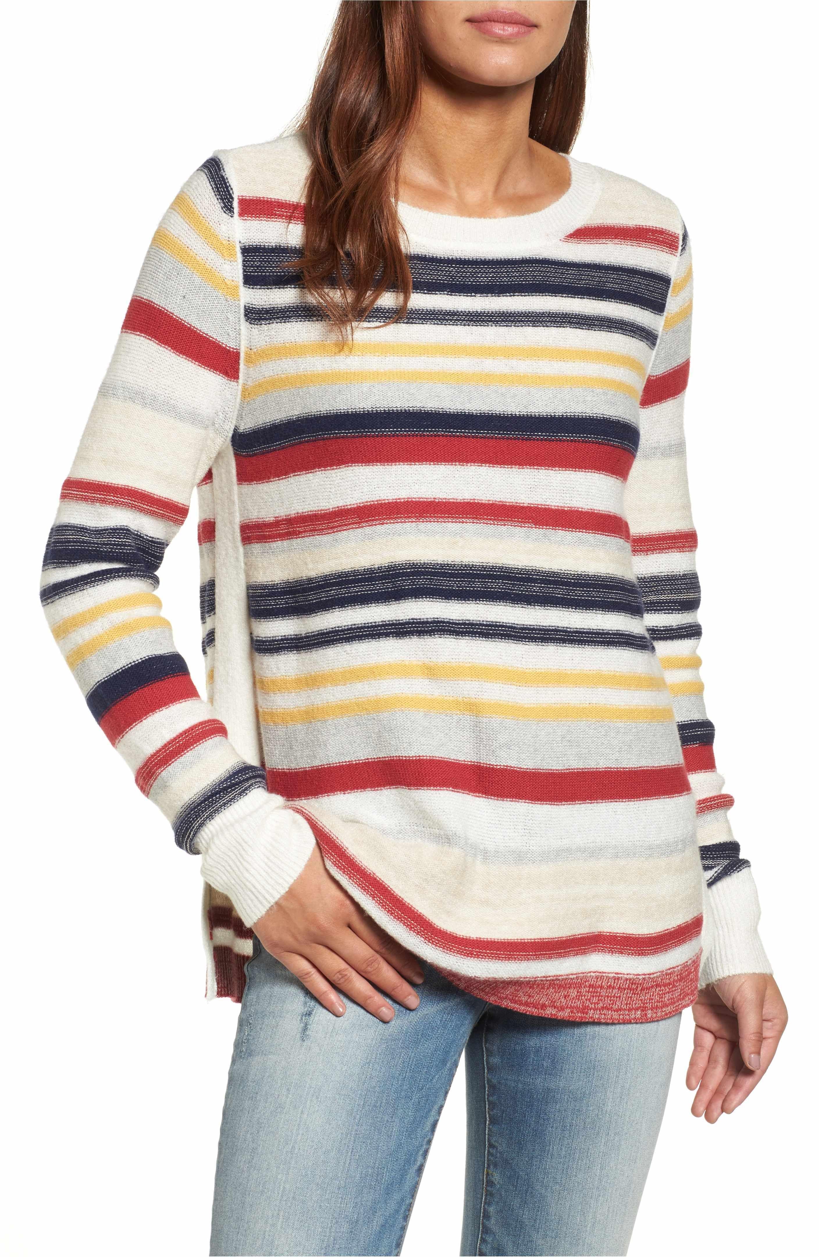 62f494b0bd7 Main Image - Caslon® Reverse Stripe Sweater