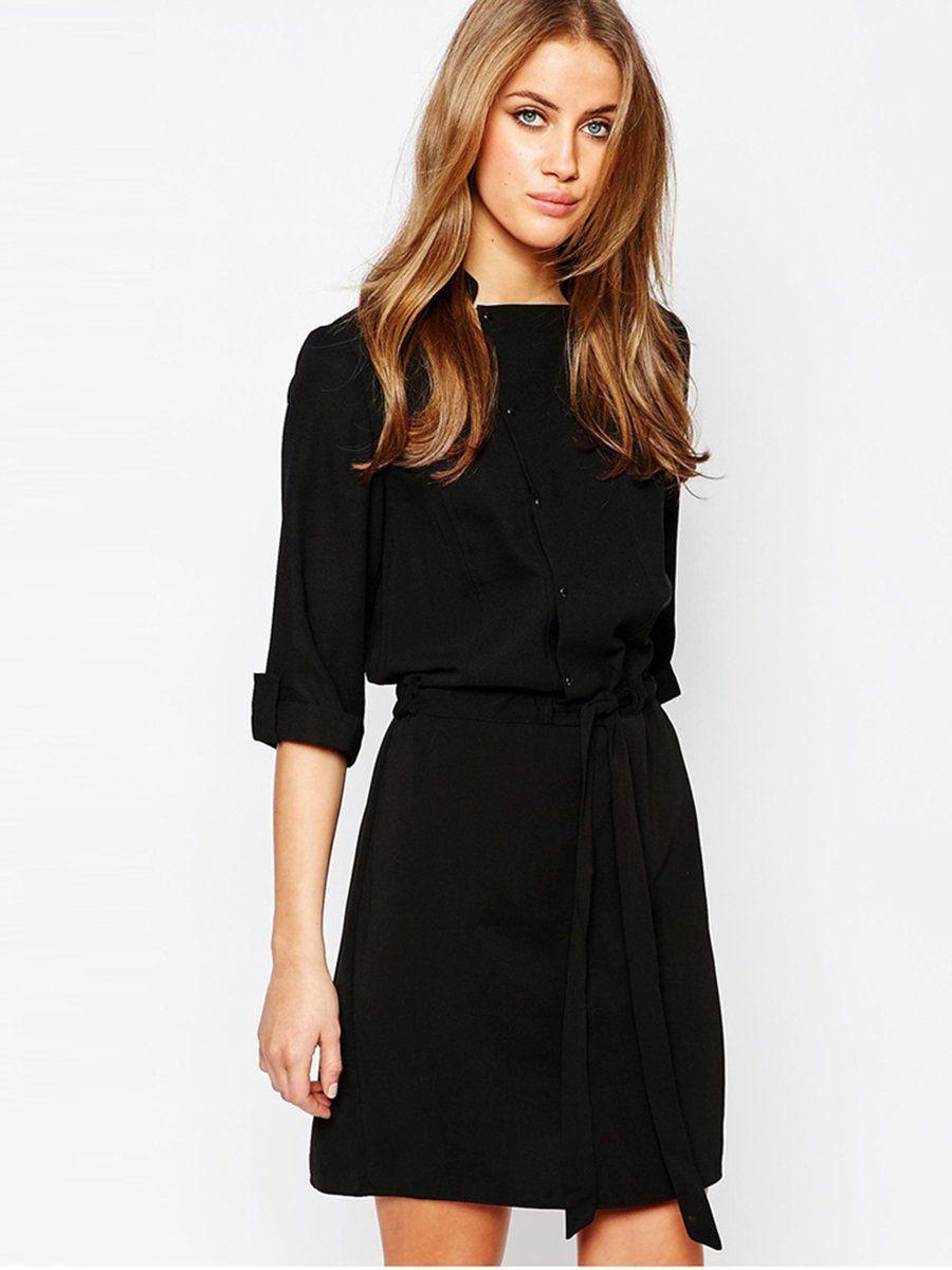 Adorewe justfashionnow casual dresses designer haoduoyi black