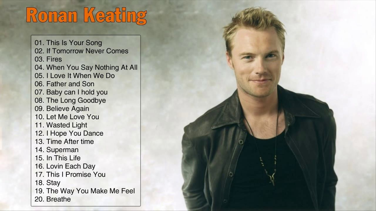 Best Songs Of Ronan Keating Ronan Keating Greatest Hits