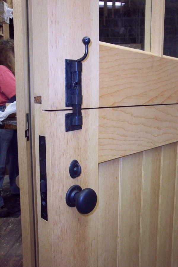 Exterior Dutch Door Hardware Interior View Of Built With Sugar Pine