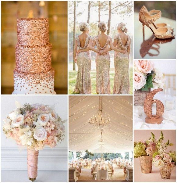 Gold Wedding Decor Ideas: Rose Gold Wedding Ideas From HotRef.com #rosegoldwedding