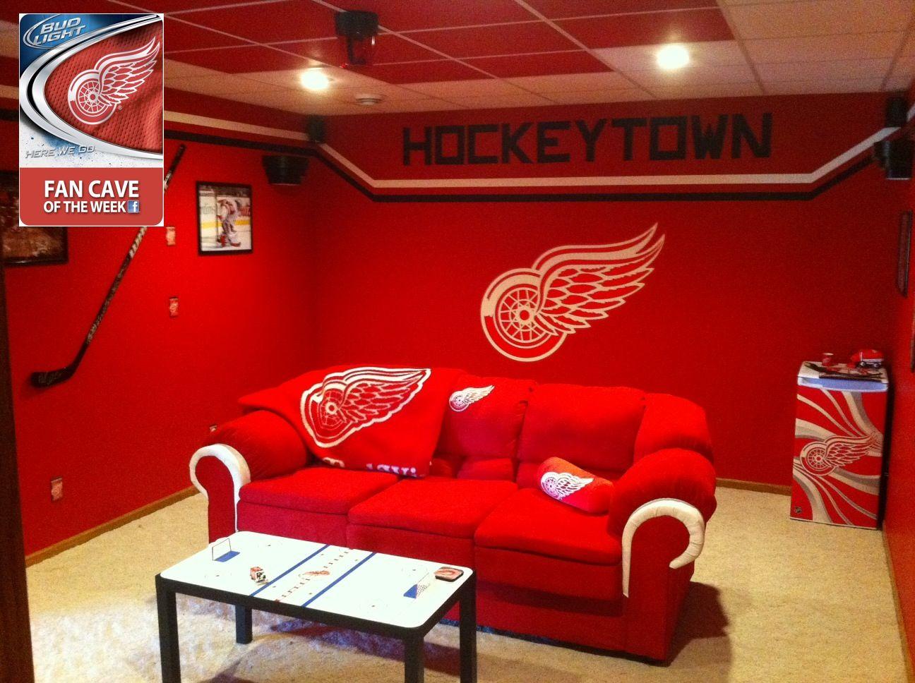Detroit Lions Man Cave Ideas : Best detroit red wings man cave for basement images