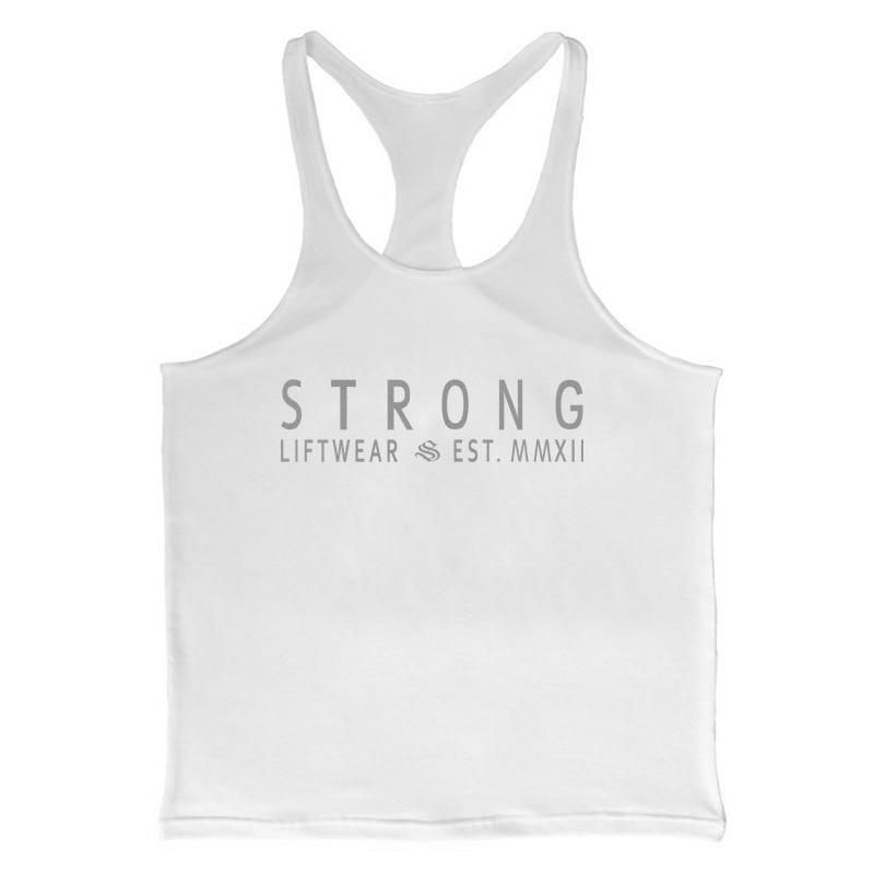 STRONG LIFTWEAR Men's Bodybuilding Fitness Gym Muscle Tank Top | Vest | Stringer -  STRONG LIFTWEAR...