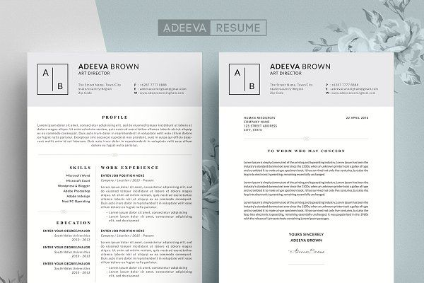 Free Cover Letter Templates For Resumes Resume Templates Adeevaresume  Simple Resume Template Brown  L
