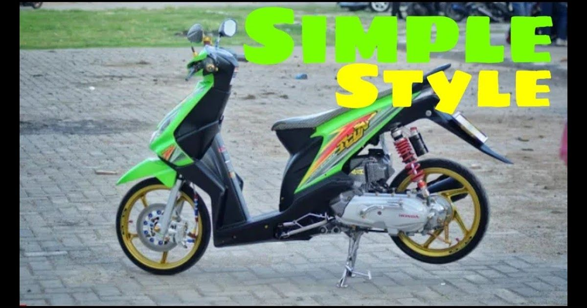 Modifikasi Honda Beat Karbu Babylooks Simple Style Youtube