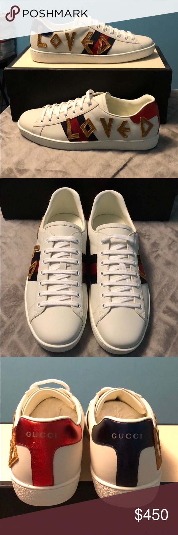 35acf79a69a8 Gucci sneakers Selling a brand new pair of Gucci sneakers. They are a US  size 11. They fit a little small. These DO NOT come with the original box  but I ...
