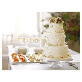 Waitrose Fiona Cairns Vintage Fairytale 3 Tier Wedding Cake