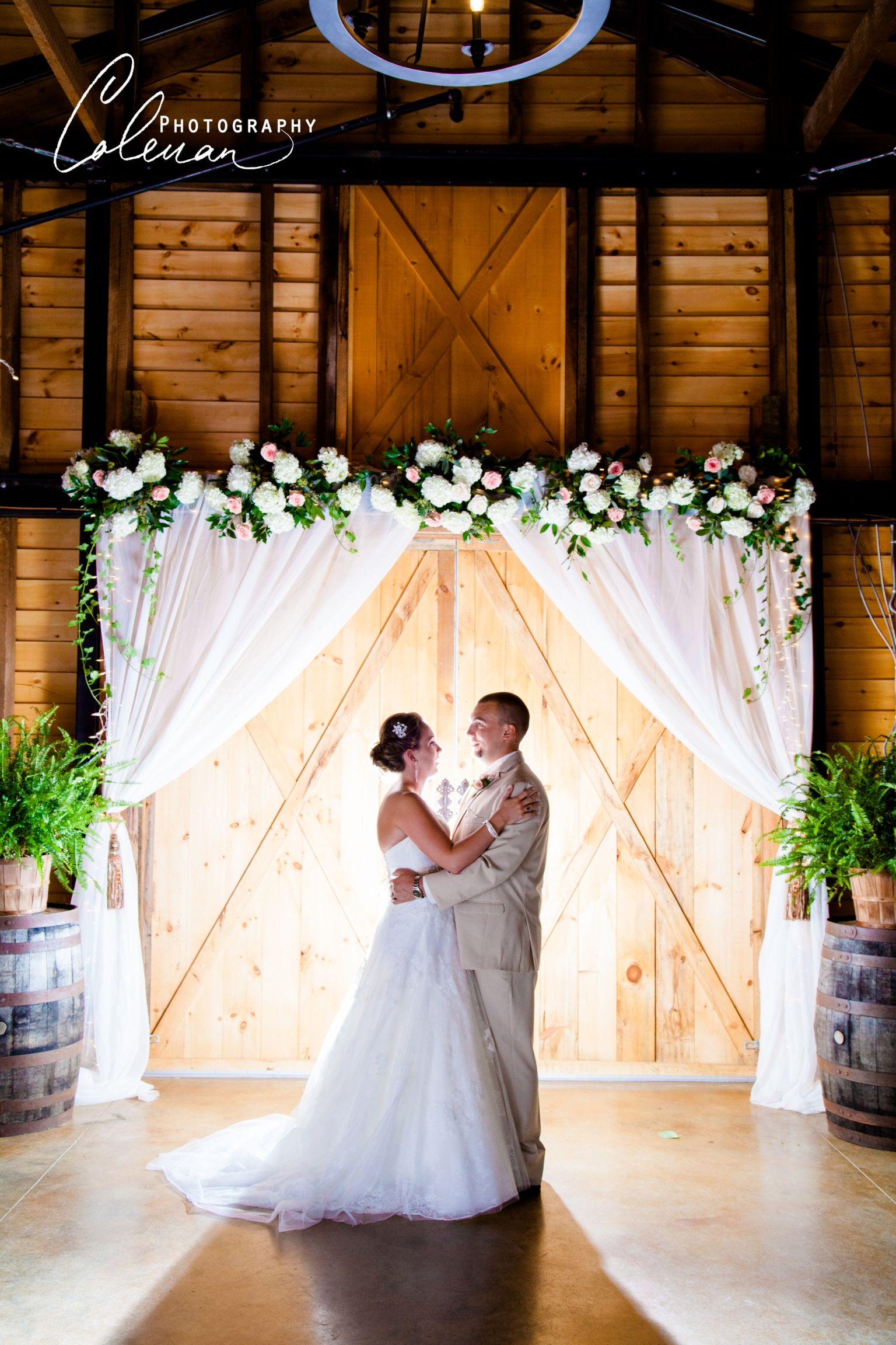 elegant rustic wedding 9oaksfarm.com flowersbyon.com ...