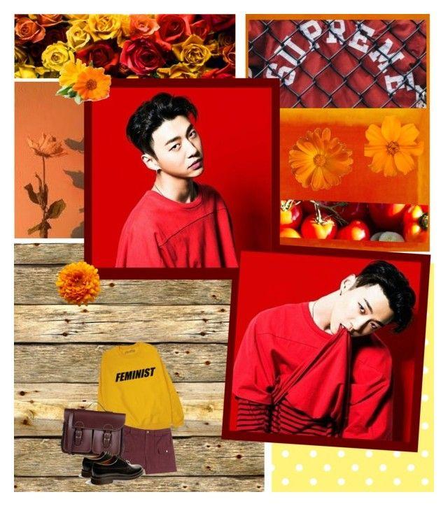 """bang yongguk // red"" by chakayuko ❤ liked on Polyvore featuring art"