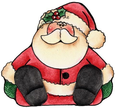 Clip Art Navidad Christmas Applique Christmas Paintings Santa Claus Drawing