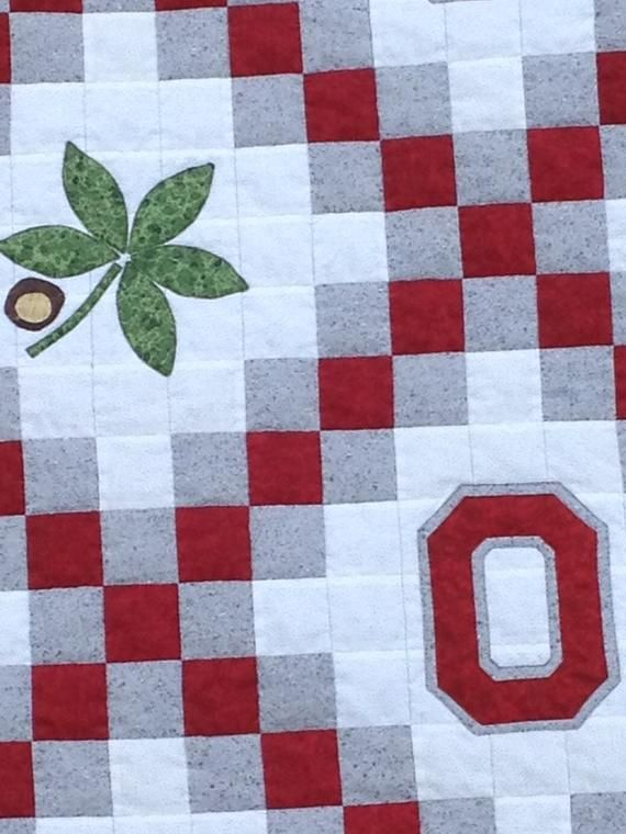 Ohio State Buckeyes OSU Quilt (Made to Order)