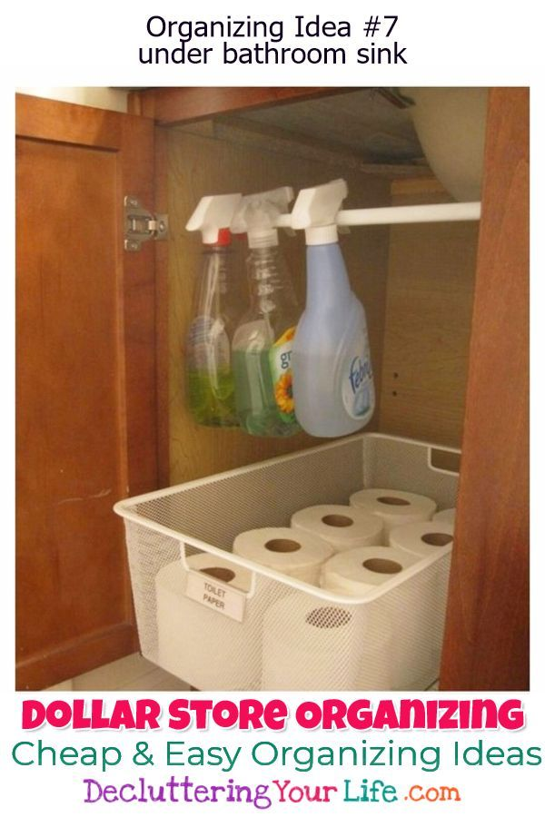 Dollar Store Organizing - Bathroom Organization Ideas On A ...