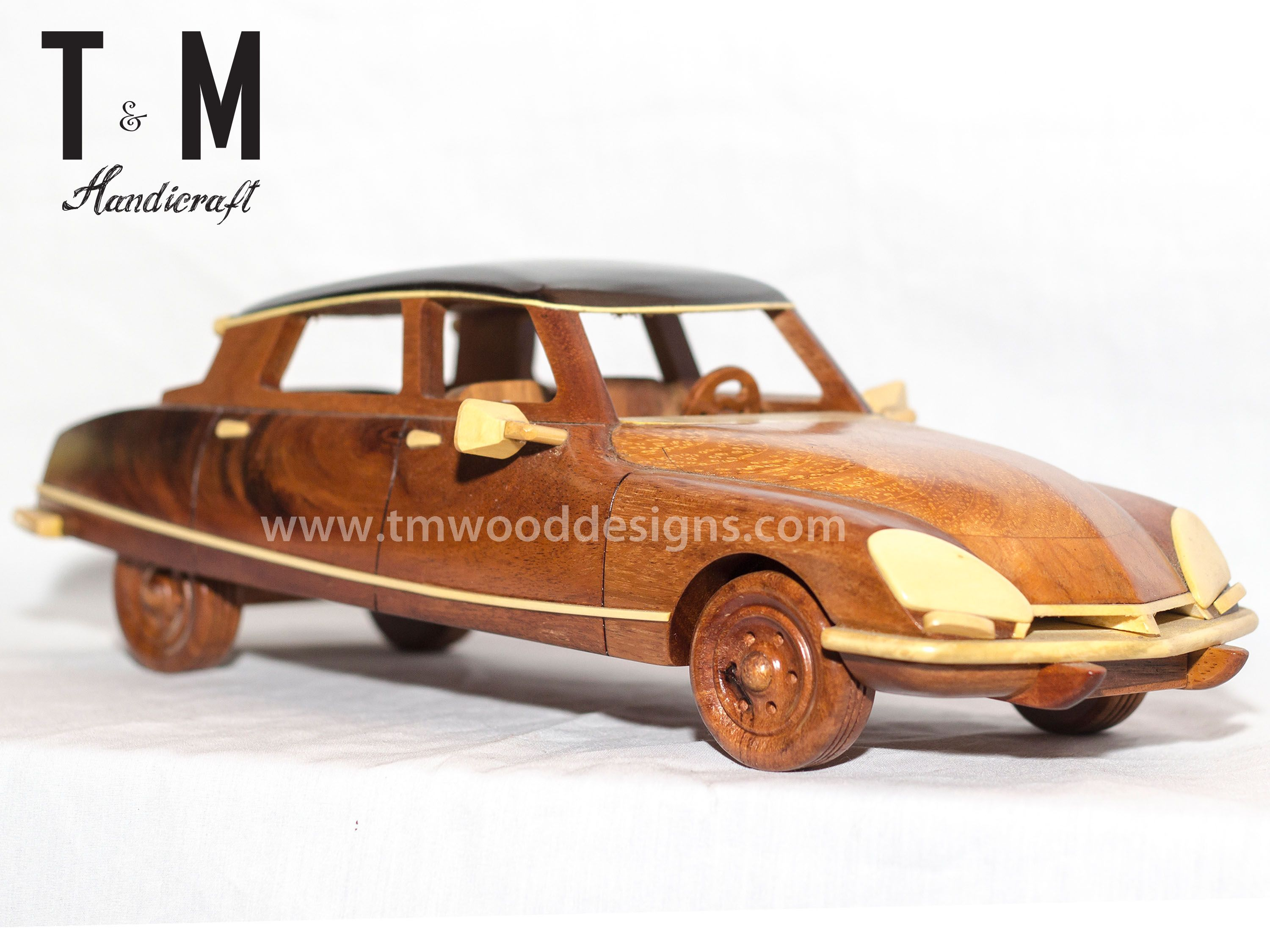 ds pallas 1968 handcrafted mahogany wood model car wooden art