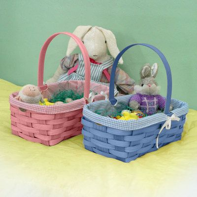 Peterboro quality easter and newborn gift basket with liner l peterboro quality easter and newborn gift basket with liner l peterboro basket co made negle Gallery