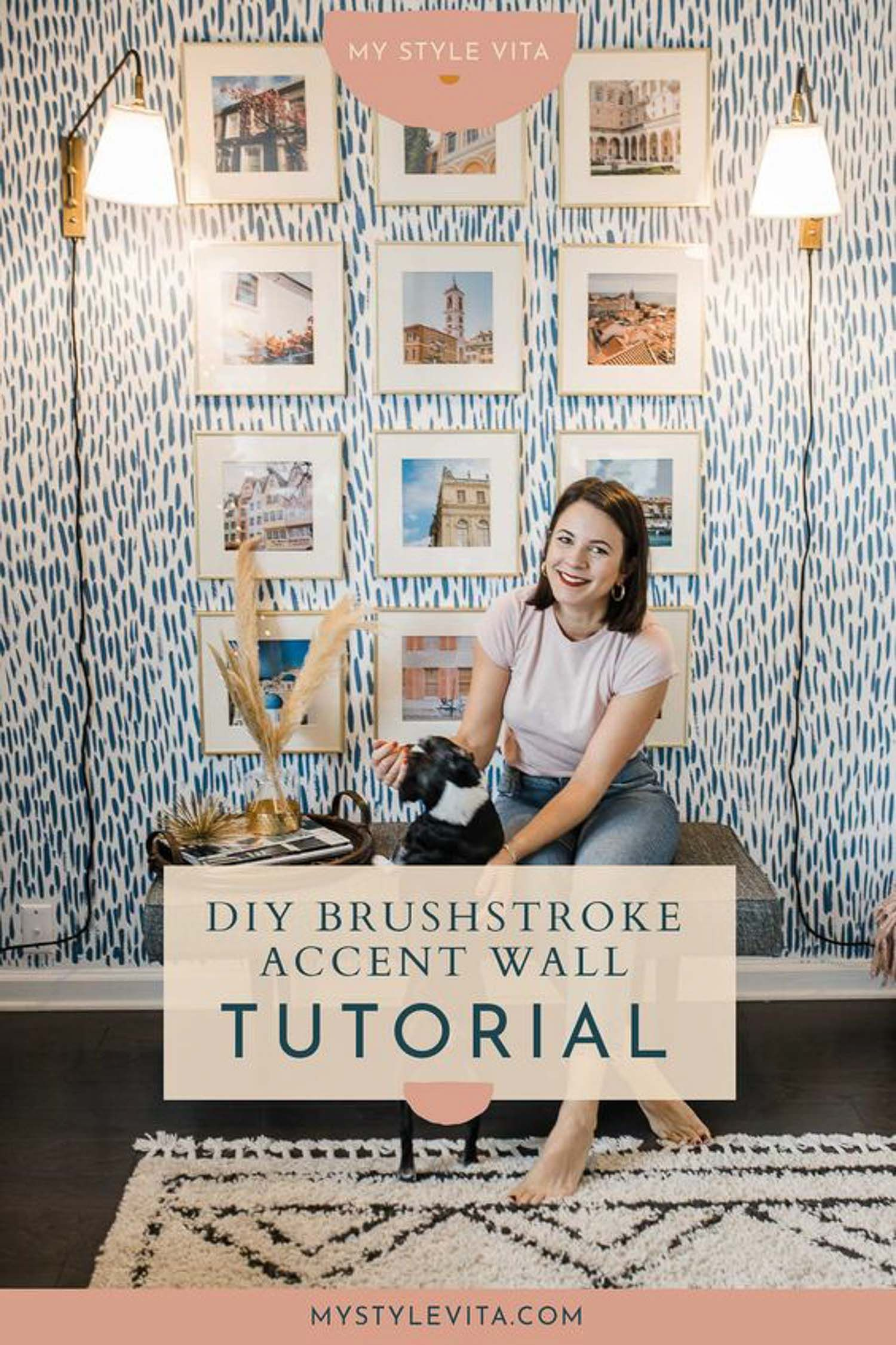 Diy Brushstroke Accent Wall Tutorial In 2020 Accent Wall Diy
