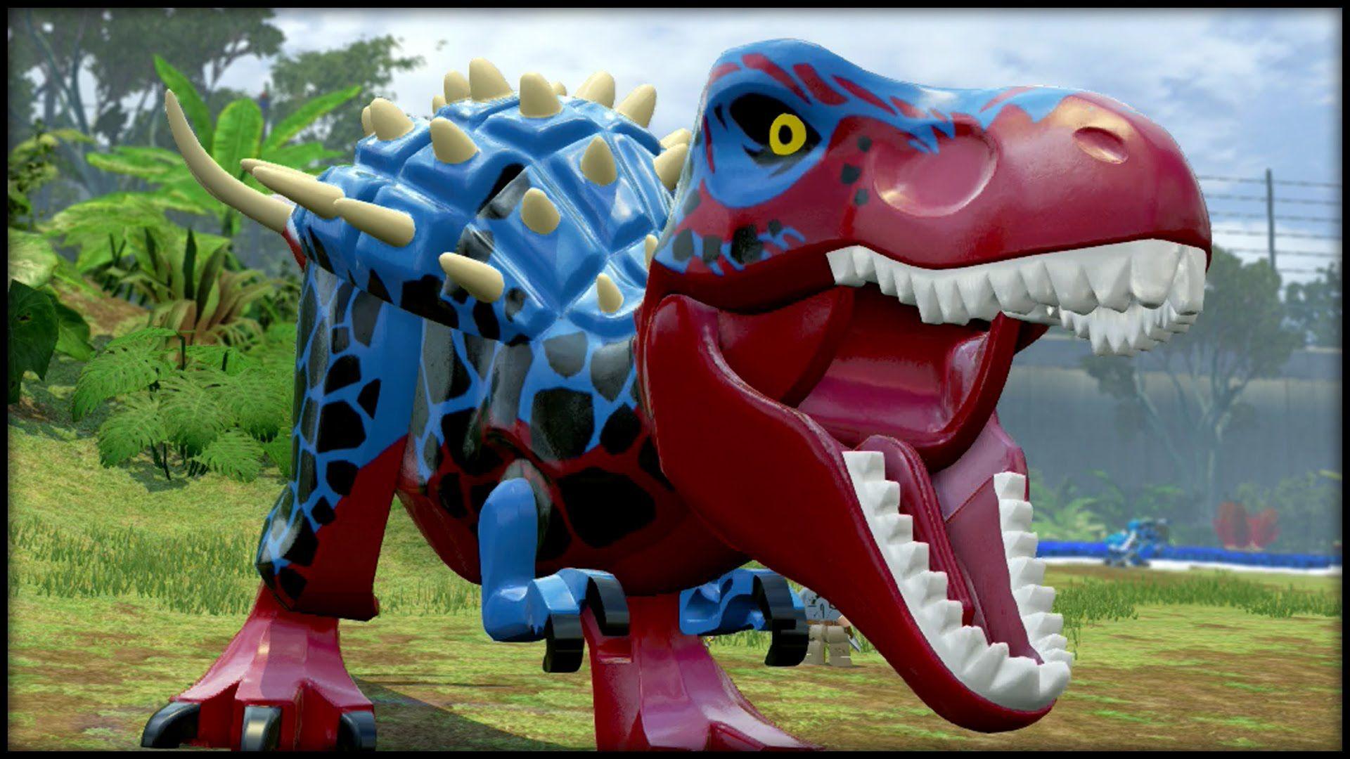 Lego Jurassic World Blitz Rex Custom Dinosaurs Parque